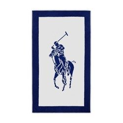Ręcznik plażowy Ralph Lauren Home Polo Jacquard (White-Navy)